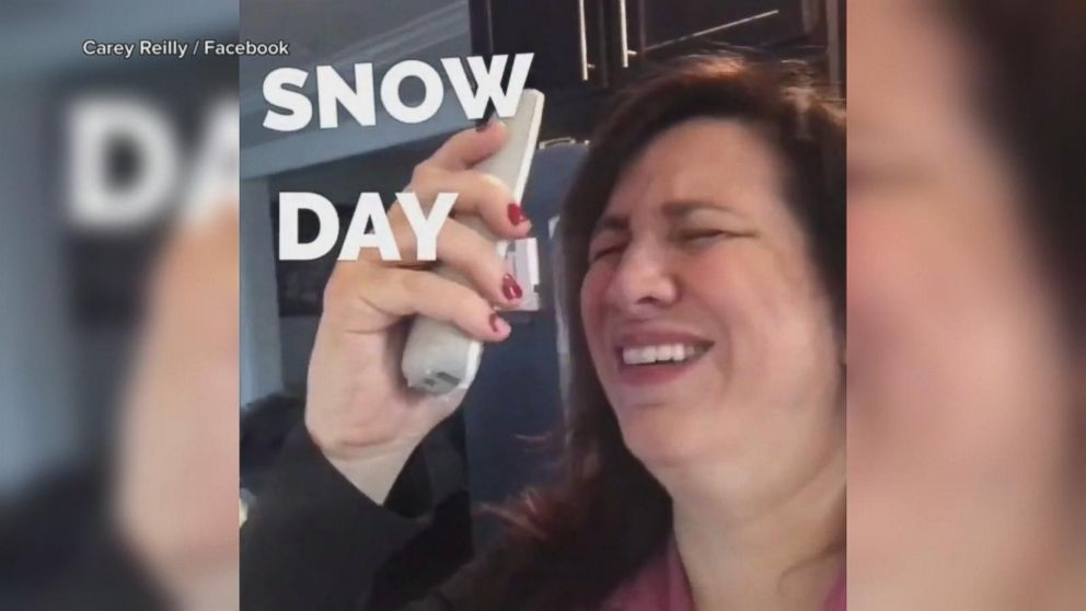 How moms really feel on a school snow day
