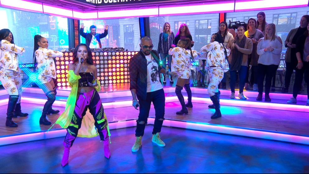Sean Paul, David Guetta and Becky G perform 'Mad Love' live on 'GMA'