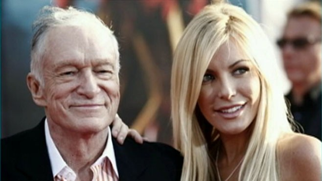 VIDEO: Hugh Hefner is engaged to Playboy Playmate Crystal Harris.