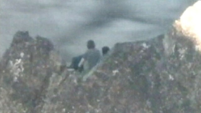 VIDEO: The two teenage boys were stranded on a narrow ridge in the Sierra Buttes.