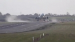 VIDEO: Fierce winds forced pilots to abort a landing at an airport in Birmingham, England.
