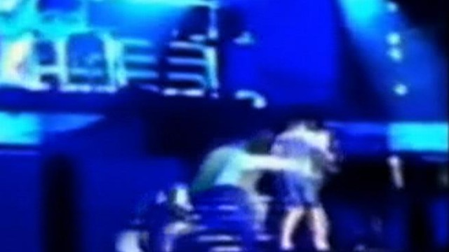 VIDEO: Justin Bieber and his piano were toppled over as a man rushed the stage.
