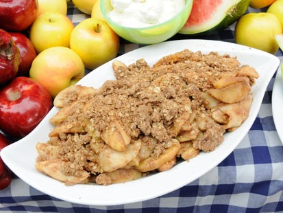 Rocco DiSpiritos Apple Pan Crumble