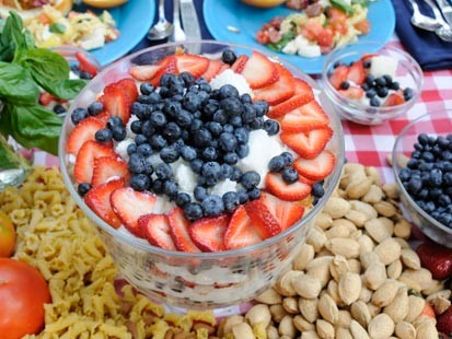 Sunny Andersons Patriotic Berry Trifle