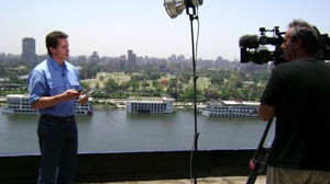Chris Cuomo on camera in Cairo.
