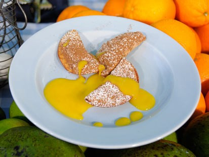 Marcus Samuelsson's Spiced Chocolate Turnovers with Mango Sauce