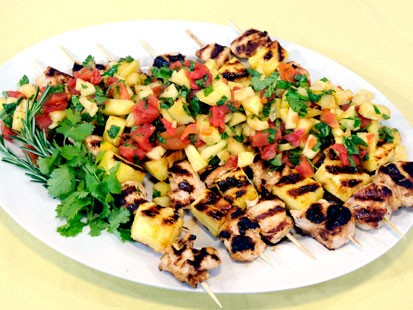BBQ Chicken With Pineapple Bacon Salsa Recipes — Dishmaps