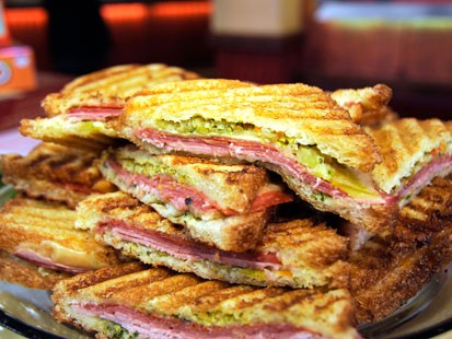 Rachael Ray's Grilled Ham-and-Cheese Sandwiches