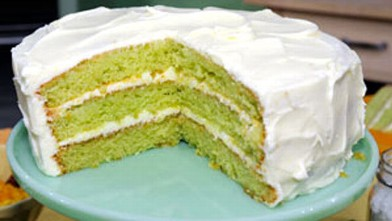 PHOTO: Key lime cake is shown.