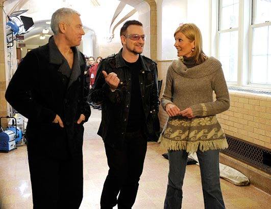 Photo: U2 Goes to College: Kate Snow catches up with U2's Bono at Fordham University to talk music, family and education.