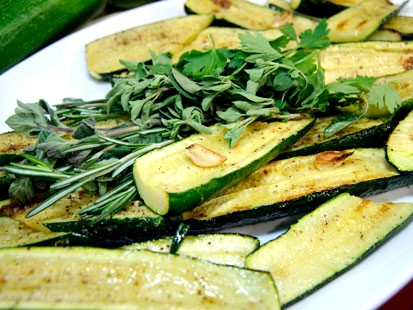 Emeril's grilled zucchini.