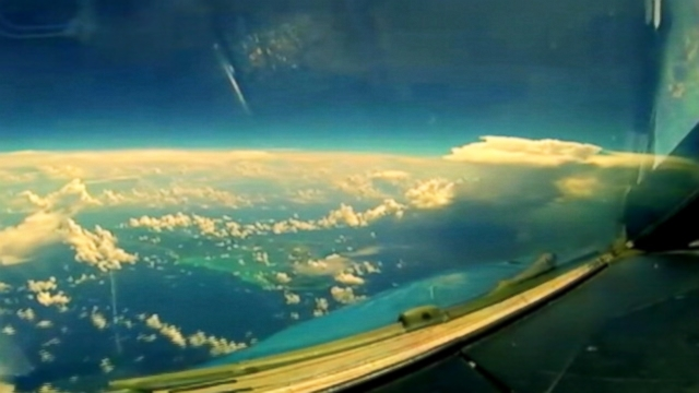 VIDEO: The airline sent a Go Pro flying and captured the beauty of flight.