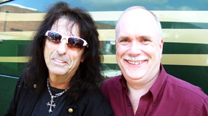 "PHOTO ""Pudgy"" pastor Mark Wilkins, right, got to live out his dream of performing onstage with metal legend Alice Cooper"
