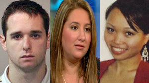 Raymond Clark, ex girlfriend Jessica Del Rocco and Annie Le