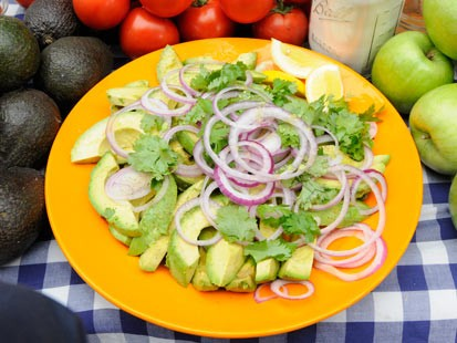 Avocado Red Onion Salad