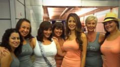 VIDEO: Morgan Essenheimer and members of her bridal party were airlifted to San Diego Airport.