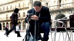 PHOTO GMA Weekend anchor Bill Weir takes in the sights in Salamanca, Spain.