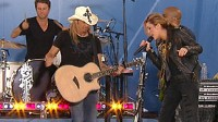 Miley Cyrus and Bret Michaels Rock Central Park for GMA's Summer Concert Series