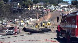 PHOTO As residents in San Bruno, Calif., return to see what damage last weeks massive gas leak explosion wrought on their homes and lives, a new home video has surfaced showing the world the horror they saw first hand.
