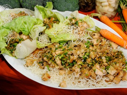P.F. Chang's Chicken in Soothing Lettuce Wraps