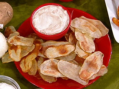 Devin Alexander's quick crunchy potato chips are shown.