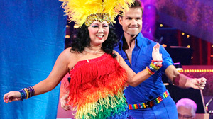 "PHOTO Margaret Cho and partner Louis Van Amstel perform on ""Dancing with the Stars,"" Oct. 4, 2010."