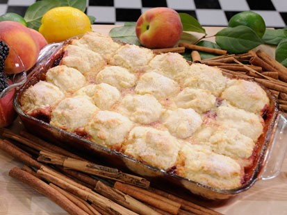 peach/blackberry cobbler