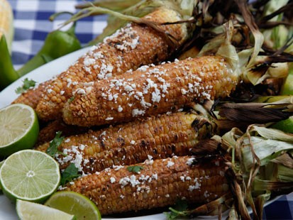 Rocco DiSpirito prepares his mexican corn with chili mayo on