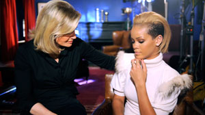 Diane Sawyer and Rihanna