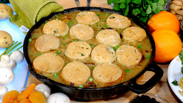 PHOTO:Shown here is Emeril Lagasse's chicken pot pie with a biscuit top.