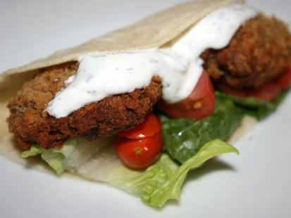 PHOTO: Stephanie ODea prepared delicious falafel i