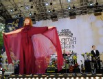 "PHOTO: Florence and the Machine performs at Central Park in New York as part of the ""Good Morning America"" summer concert series, June 24, 2011."
