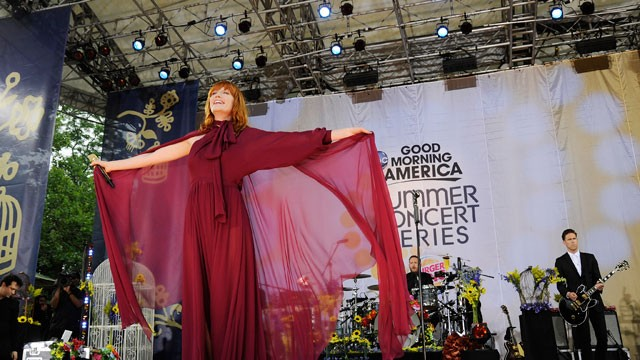 PHOTO: Florence and the Machine performs at Central Park in New York as part of the