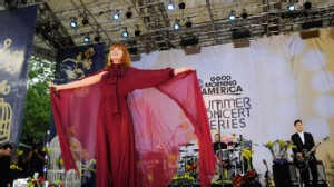 PHOTO:??Florence and the Machine performs at Central Park in New York as part of the Good Morning America summer concert series, June 24, 2011.