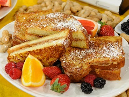 Chef Mark Meyer's Peanut Butter & Jelly French Toast.