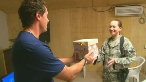 VIDEO: Chris Cuomo brings gifts from four families to their loved ones serving in Afghanistan.