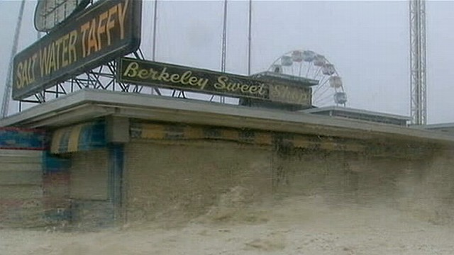 VIDEO: Superstorm Sandy Destroys Atlantic City Boardwalk