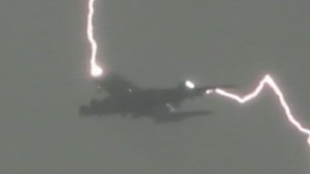 VIDEO: Investigators are trying to figure out whether the incident was caused by a bolt of lightning.