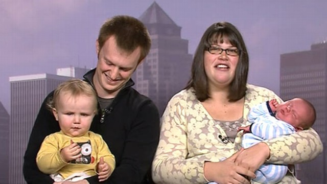 VIDEO: Meet Kendal and Joshua Stewardson and their big new baby Asher.