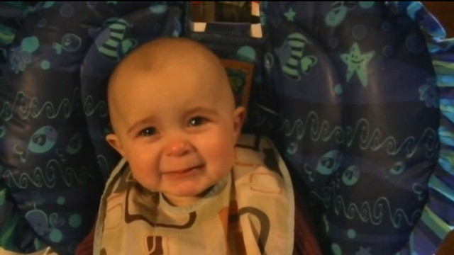 VIDEO: Ten-month-old Marie-Lynne has emotional reaction to her mom's beautiful voice.