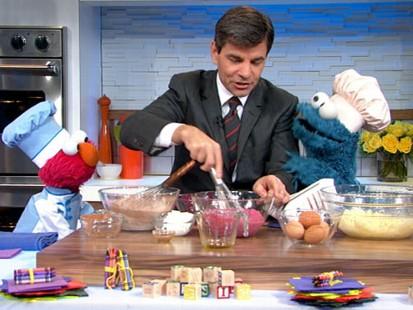 Elmo's Red Velvet Cupcakes | Recipe - ABC News