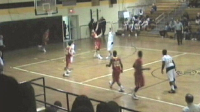VIDEO: Lejeune Devilpups Kyle Ford sinks impressive shot prior to end of third period.