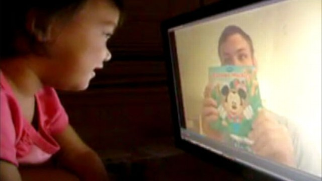 VIDEO: Dad taped video reading his 2-year-old daughter a bedtime story before he left.