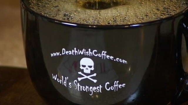 "VIDEO: Drinking the ""worlds strongest cup of coffee"" is like having two cups at once."