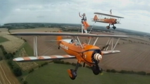VIDEO: Two young daredevils used their stunt to raise awareness for muscular dystrophy.