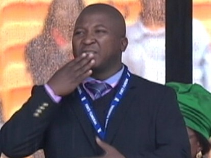Watch: Mandela Sign Language Interpreter Says He Suffered Schizophrenic Episode