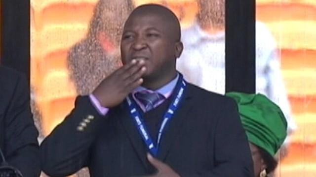Video: Mandela Sign Language Interpreter Says He Suffered Schizophrenic Episode
