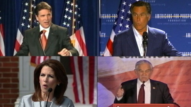 VIDEO: GOP candidates engage each other following weeks of attacks on President Obama.