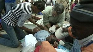 VIDEO: Dr. Richard Besser helps a woman give birth amid the chaos in Haiti.