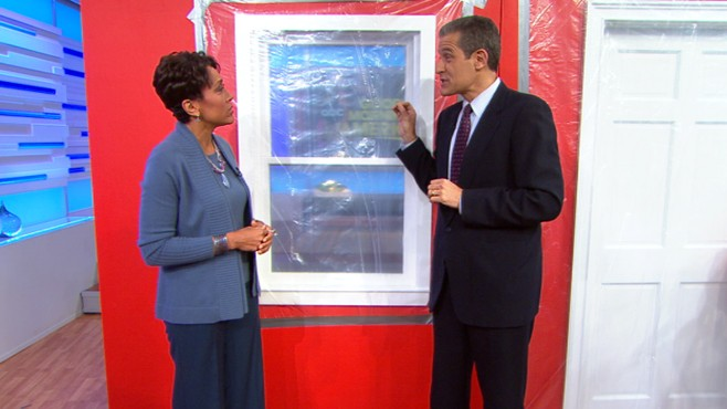 VIDEO: Dr. Richard Besser demonstrates how to seal your home from radiation.